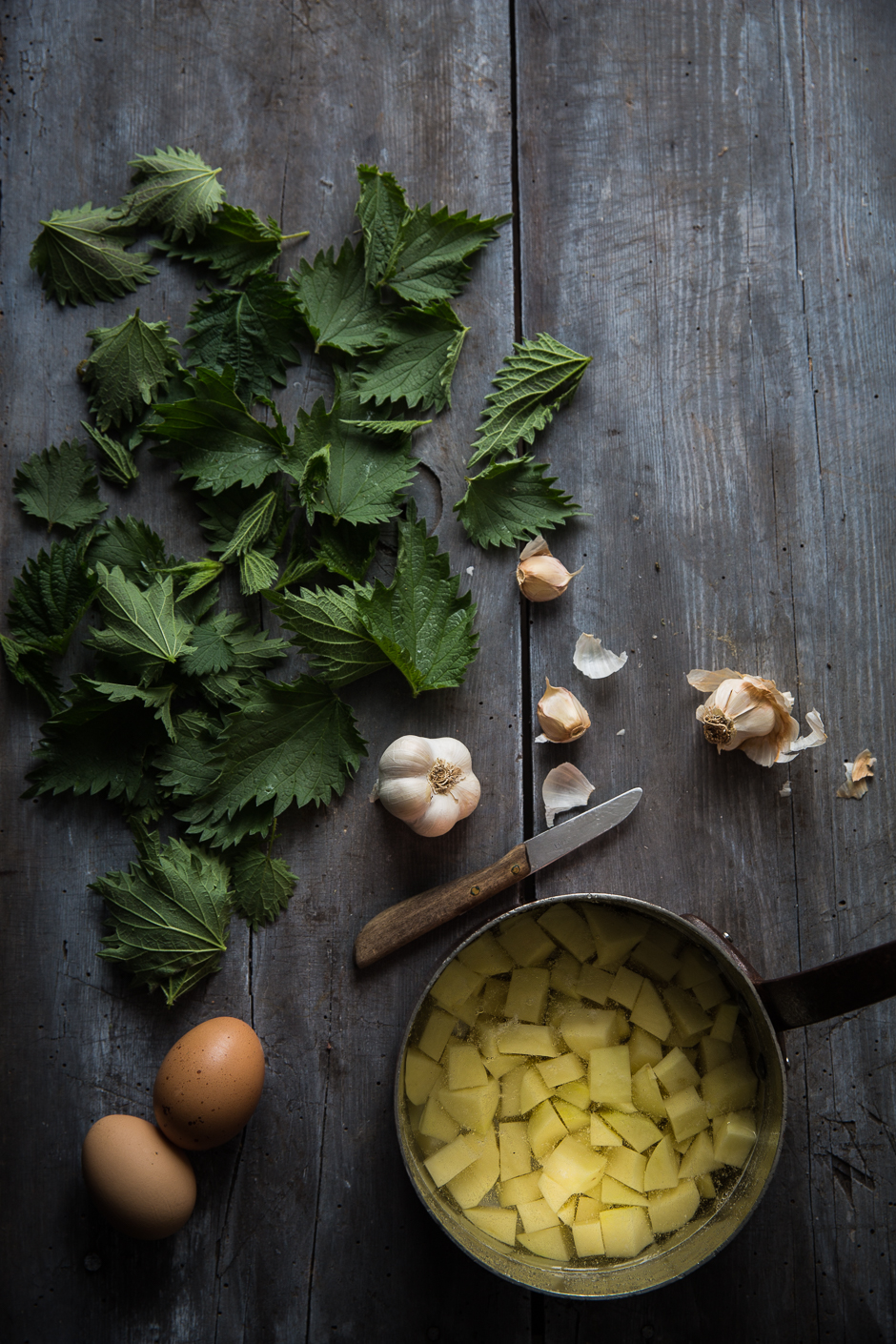 """nettle stew with """"gánica"""" from the Taste of Memories Hungarian country kitchen"""