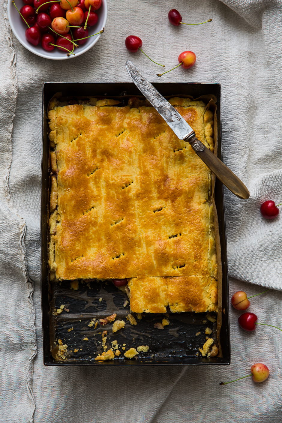 cherry pie from the Taste of Memories Hungarian country kitchen www.tasteofmemories.com