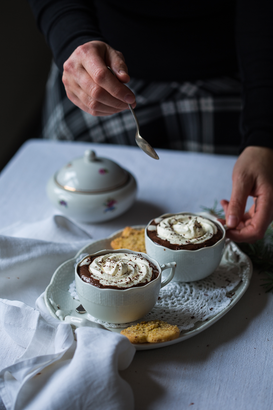 hot chocolate from the Taste of Memories Hungarian country kitchen www.tasteofmemories.com