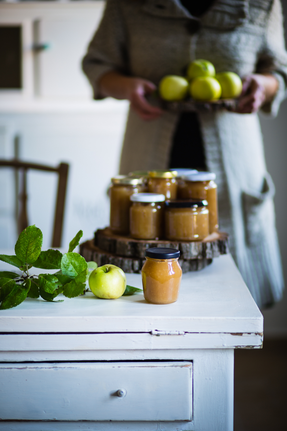 apple jam from the Taste of Memories Hungarian country kitchen www.tasteofmemories.com